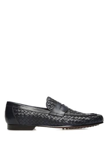 Barrett %100 Deri Loafer Ayakkabı Lacivert